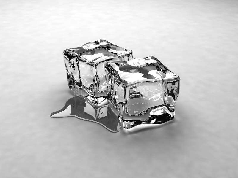 Cubi di ghiaccio 2 fotografie stock libere da diritti