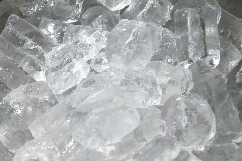 Cubi di ghiaccio di fusione fotografia stock