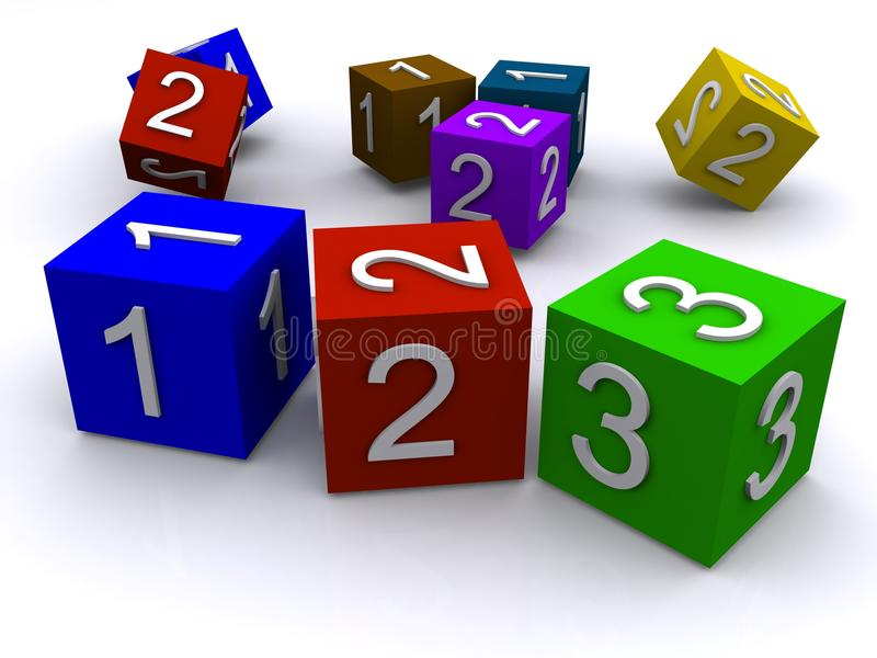 Cubi di numero royalty illustrazione gratis