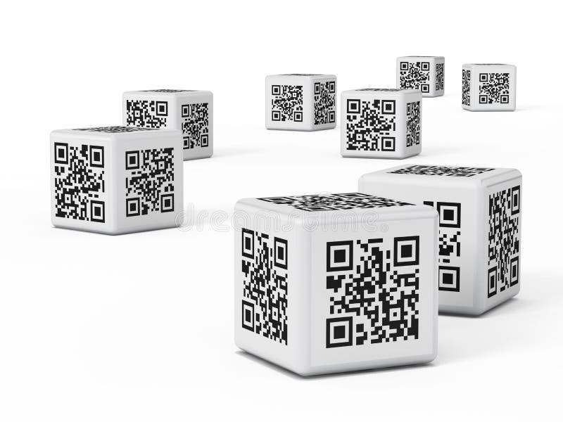 Cubi di QR illustrazione vettoriale