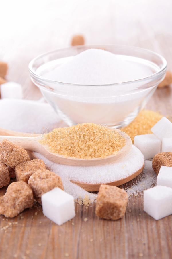 Cubi e canna dello zucchero fotografia stock