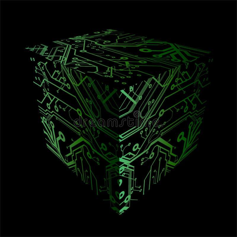 Cubi le zolle dei circuiti della stampa royalty illustrazione gratis