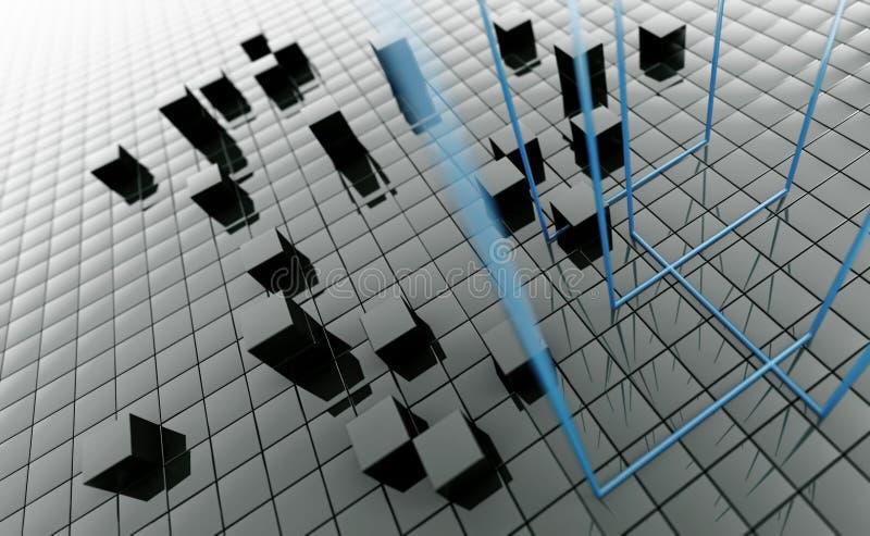 Cubi metallici scuri illustrazione vettoriale