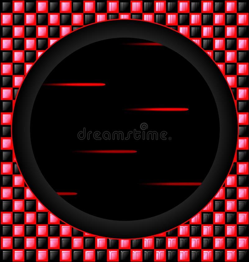 cubi Rosso-neri e foro scuro illustrazione vettoriale