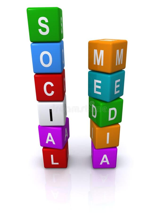 Cubi sociali di media illustrazione vettoriale