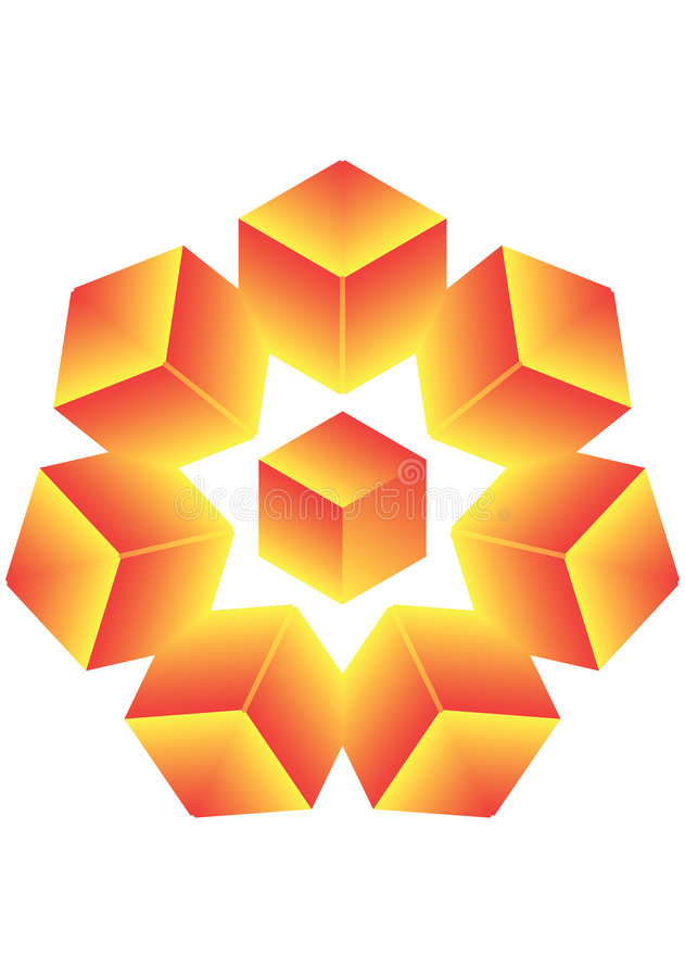 Cubi una stella. illustrazione di stock