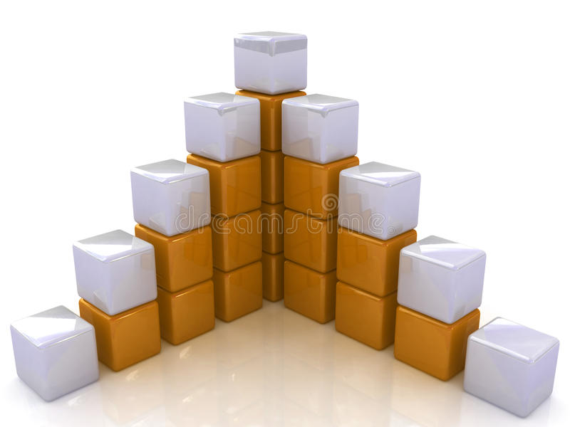 Cubic diagram structure. On a white background royalty free illustration