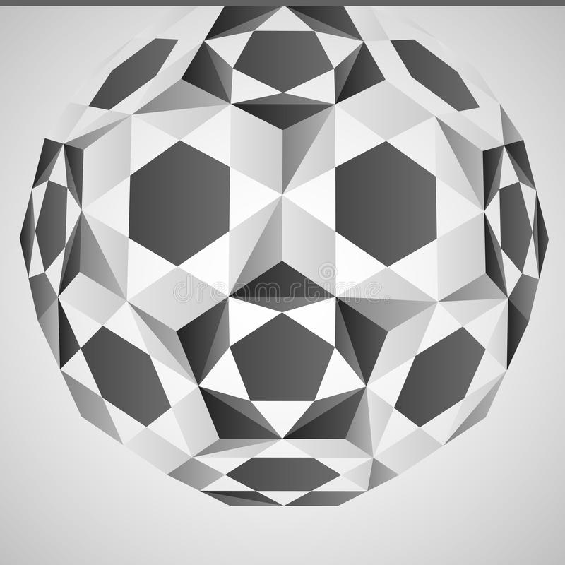 Cubic dimensional black and white layout. Illustration vector illustration