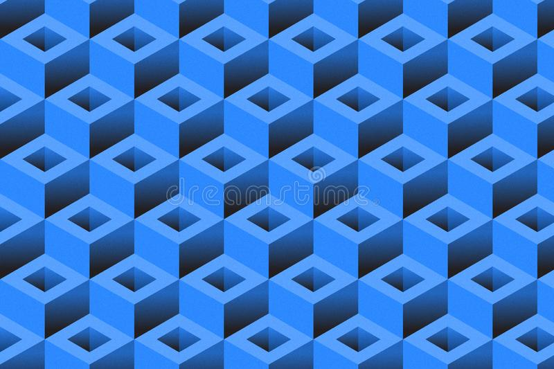 Cubic geometric background royalty free stock photos