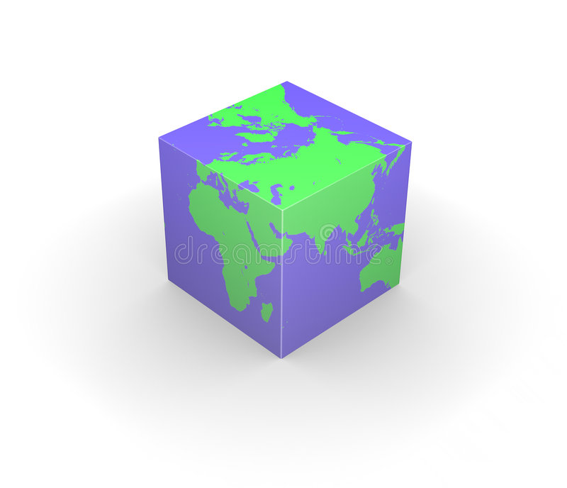 Download Cubic Globe Earth Cube Square Royalty Free Stock Photos - Image: 2902718