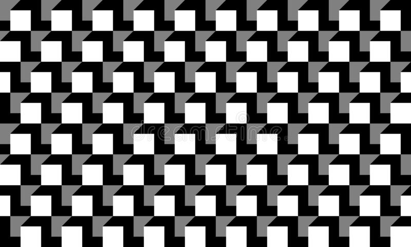 A cubic gray white black no lines seamless pattern variation 3. Seamless cubic geometric gray white black no lines pattern vector illustration royalty free illustration