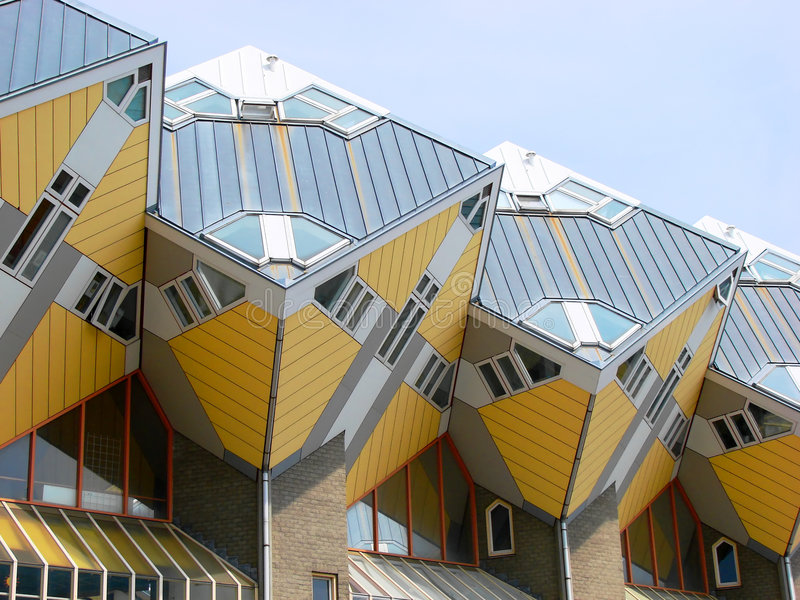 Cubic Houses royalty free stock image