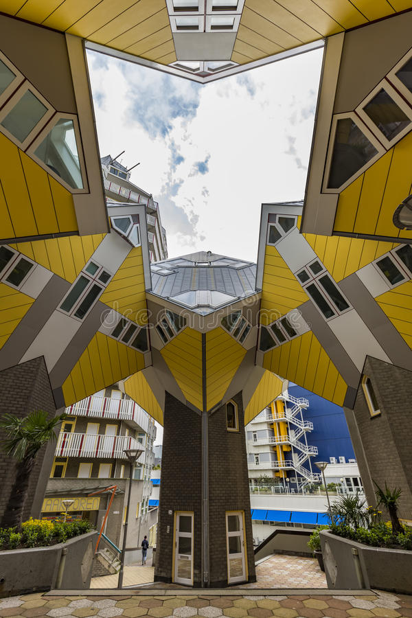 Cubic houses at Rotterdam royalty free stock photography