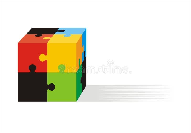 Cubic Jigsaw royalty free illustration