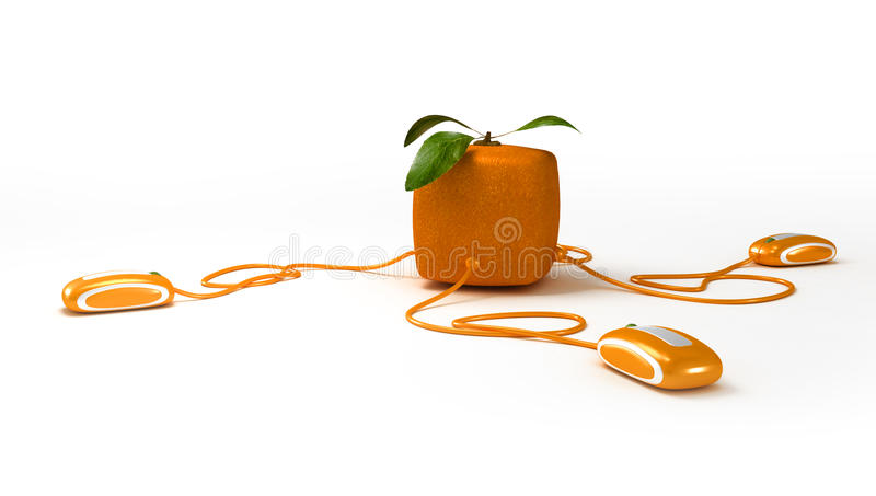 Download Cubic Orange Communications Royalty Free Stock Images - Image: 13375669