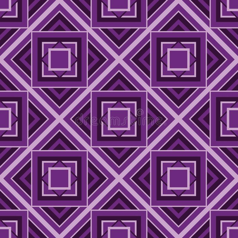 Cubic pattern bakcground. With violet colors stock illustration