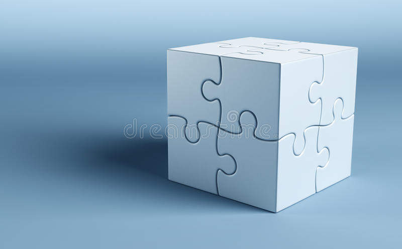 Cubic Puzzle Royalty Free Stock Image