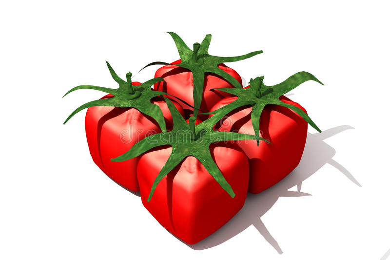 Cubic tomato pack stock photos