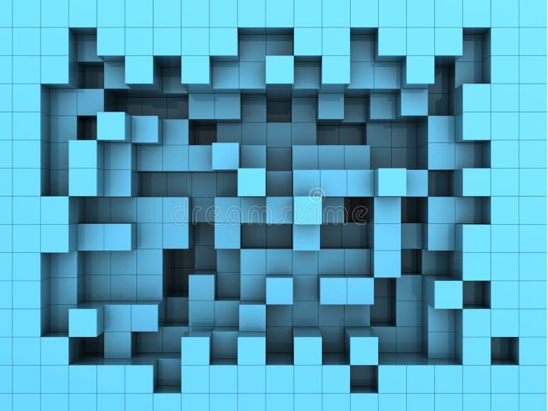 Cubica el fondo ilustración del vector