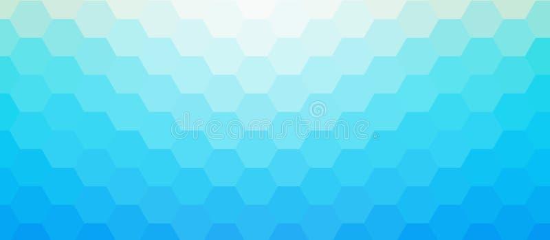 Cubica el fondo del mosaico ilustración del vector