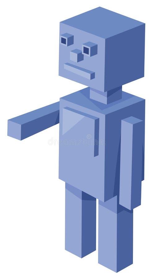 Cubical robota postać z kreskówki ilustracja wektor