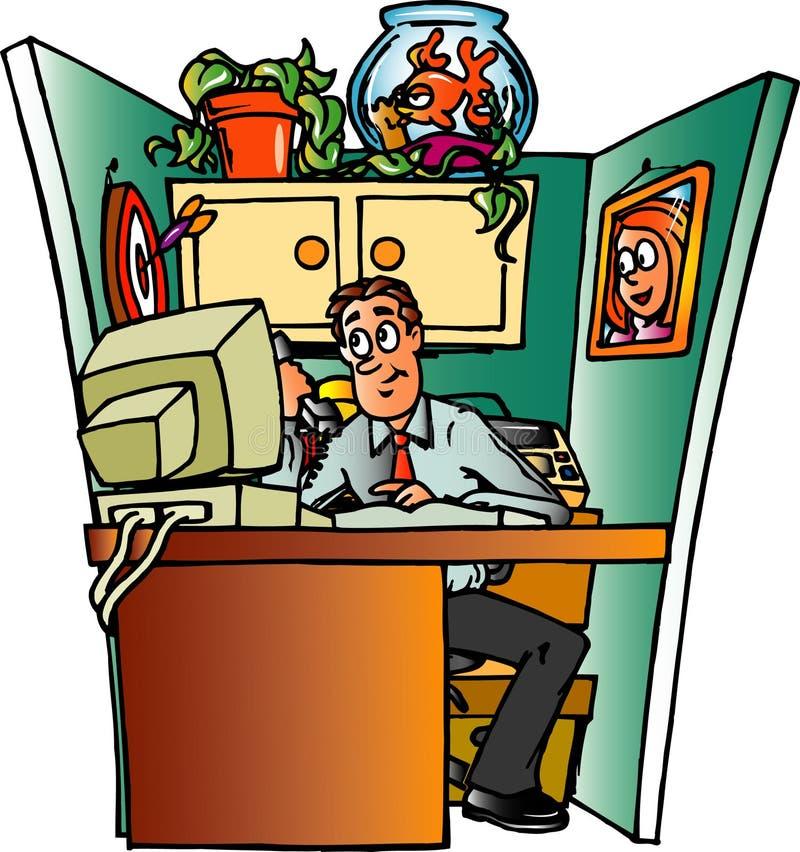 cubical urzędu royalty ilustracja