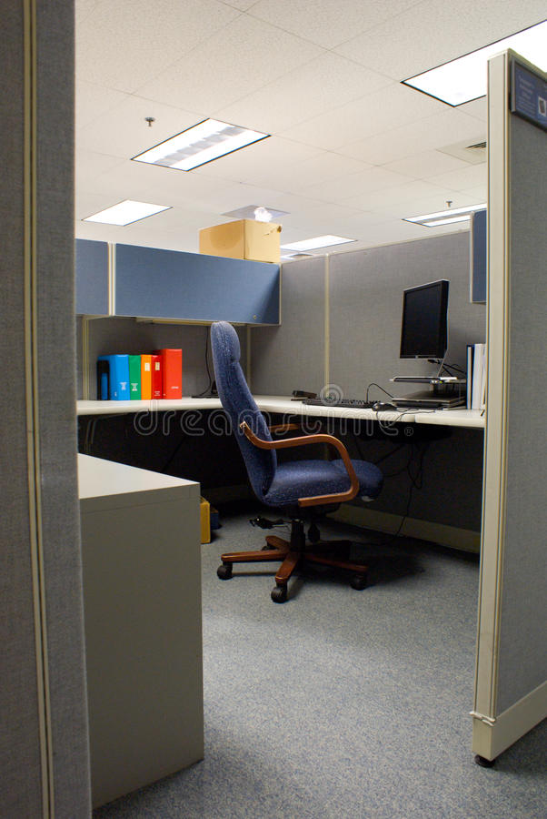 Download Cubicle in Office Space stock image. Image of late, desktop - 10708247