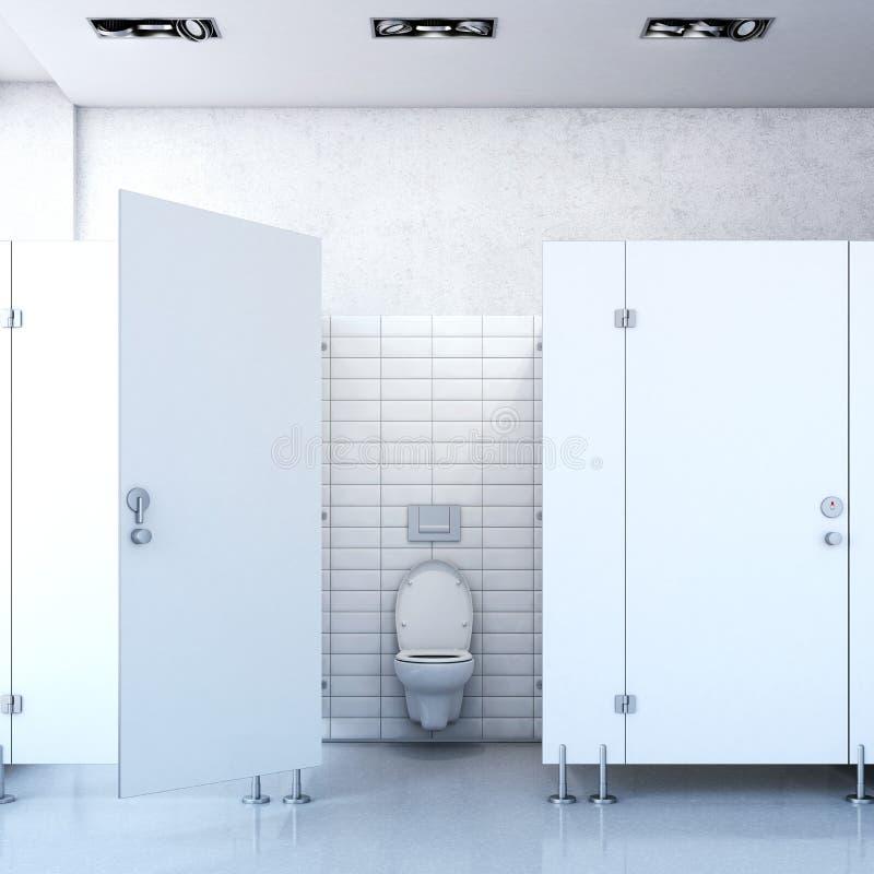 Cubicolo della toilette pubblica rappresentazione 3d fotografia stock libera da diritti