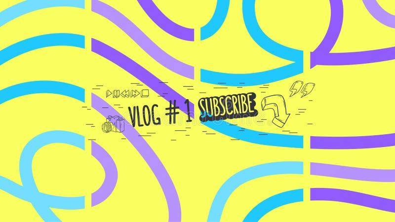 Cubierta abstracta para gráfico de vector social del canal del blog video de Vlog el medios stock de ilustración
