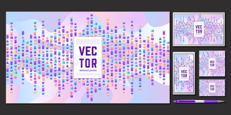 Cubierta abstracta para su diseño ilustración del vector