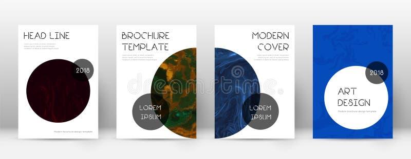 Cubierta abstracta Plantilla adicional del diseño Cartel de moda de mármol de Suminagashi Cubierta abstracta de moda adicional libre illustration