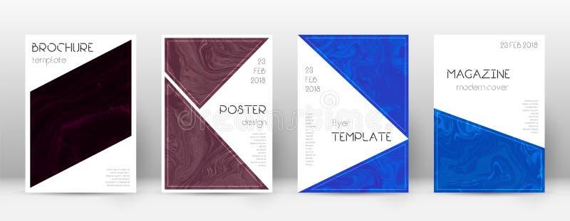 Cubierta abstracta Plantilla de fascinación del diseño Cartel del triángulo del mármol de Suminagashi Abstra de moda de fascinaci stock de ilustración