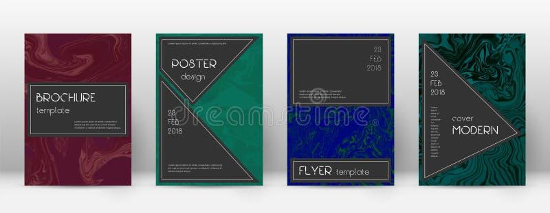 Cubierta abstracta Plantilla de fascinación del diseño Suminaga stock de ilustración