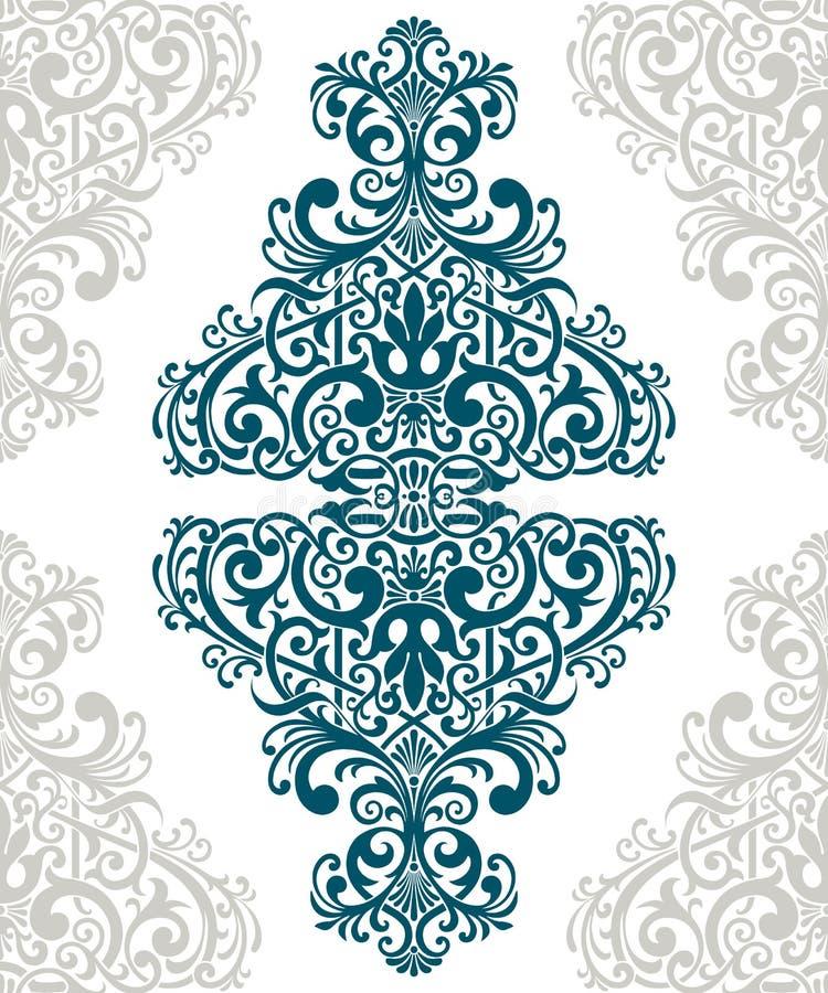 Cubierta adornada de la tarjeta del marco de la frontera de la vendimia del vector stock de ilustración