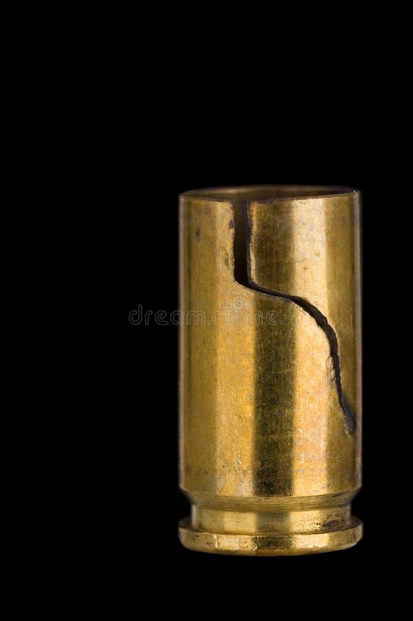 Cubierta agrietada del shell de 9 milímetros fotografía de archivo libre de regalías