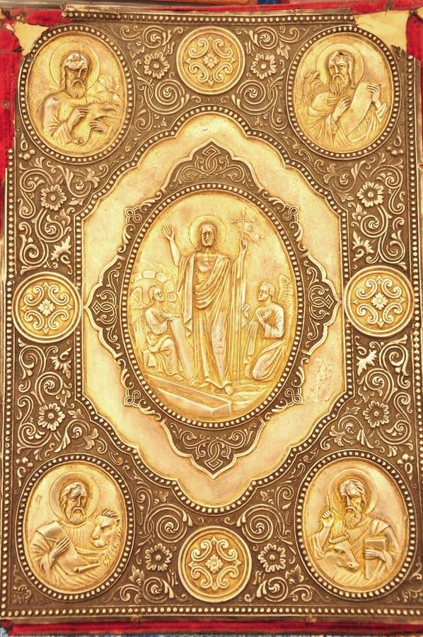 Cubierta antigua del evangelia fotografía de archivo libre de regalías