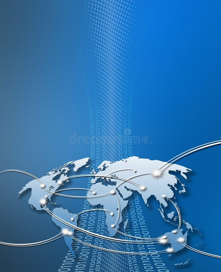 Cubierta azul del Internet con el copyspace libre illustration