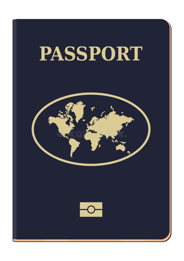 Cubierta biométrica del pasaporte libre illustration