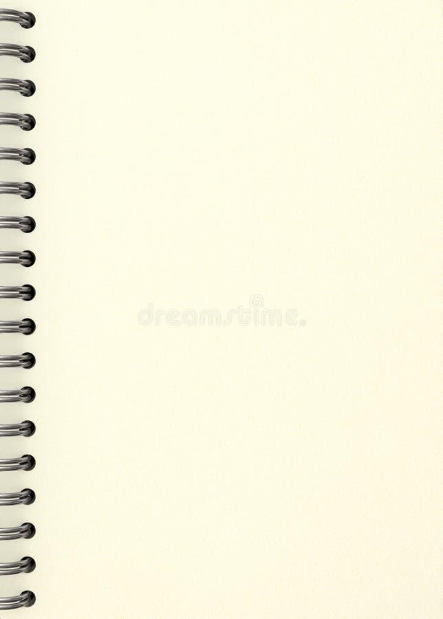 Cubierta blanca del cuaderno ilustración del vector