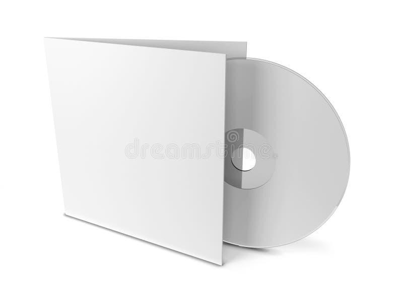 Cubierta CD en blanco stock de ilustración