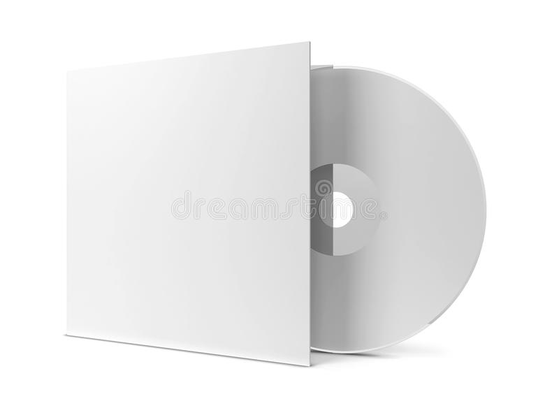 Cubierta CD en blanco ilustración del vector