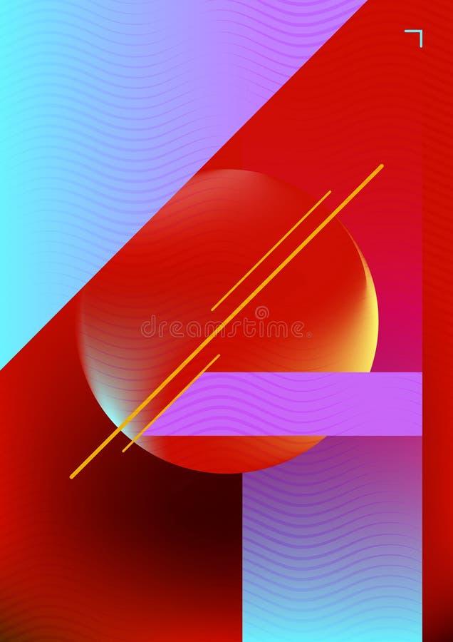 Cubierta colorida elegante ilustración del vector