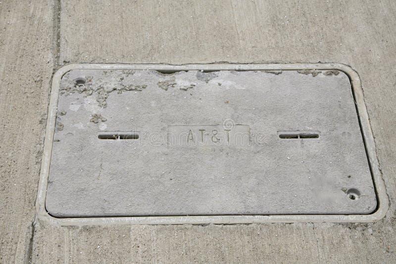 Cubierta de acceso de AT&T Uverse foto de archivo libre de regalías