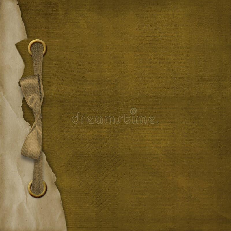 Cubierta de Grunge para el álbum con las cintas ilustración del vector