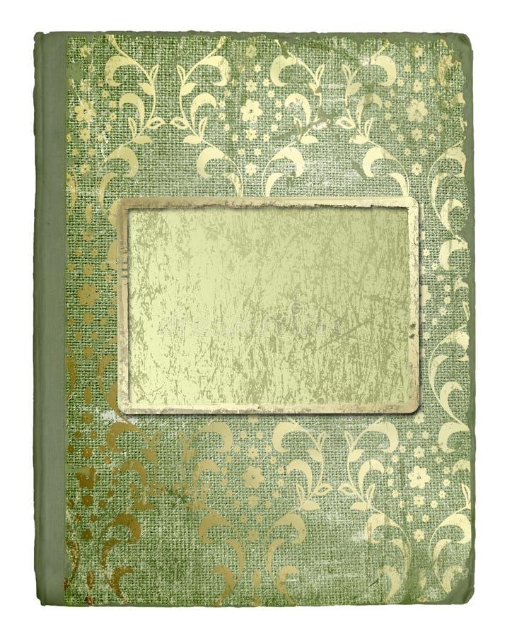 Cubierta de Grunge para un libro o álbum con la corrección ilustración del vector