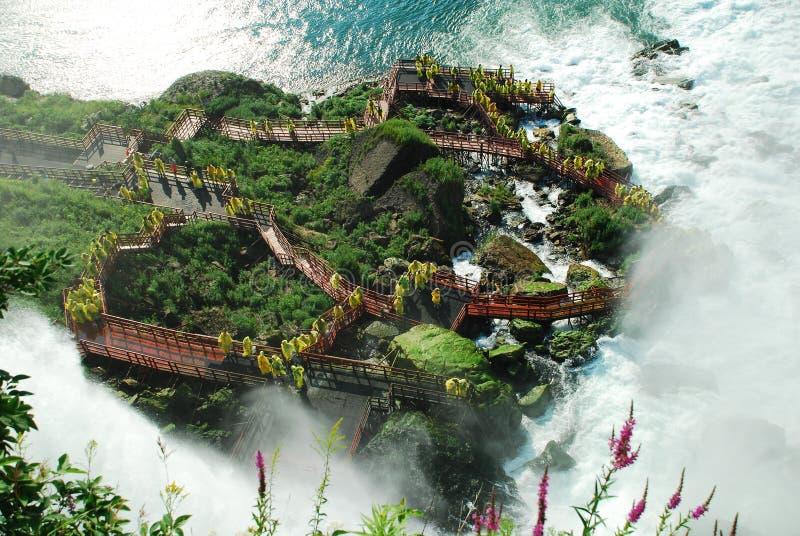 Cubierta de huracán en Niagara Falls imagenes de archivo