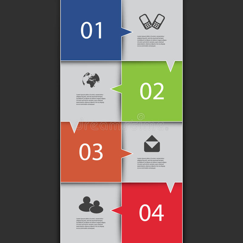 Cubierta de Infographics stock de ilustración