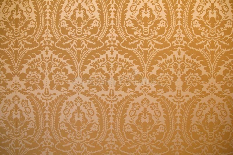 Cubierta de la pared de la tela del damasco imágenes de archivo libres de regalías