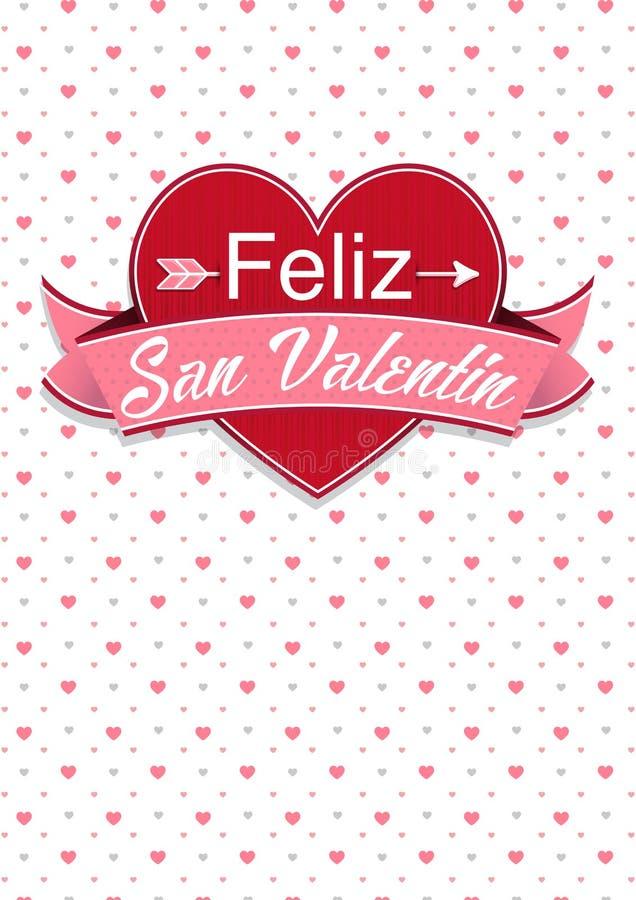 Download Cubierta De La Tarjeta Con El Mensaje: Feliz San Valentin - Día De  Tarjetas