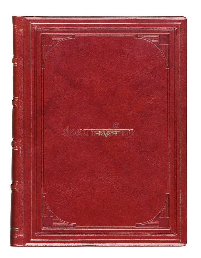 Cubierta de libro antigua de cuero con grabado fotos de archivo libres de regalías